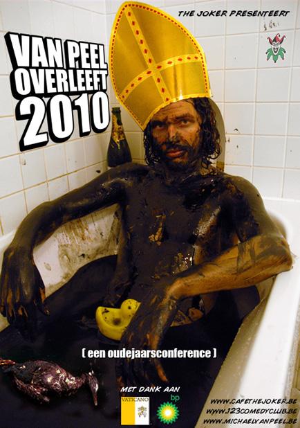"""poster """"Van Peel overleeft 2010"""""""